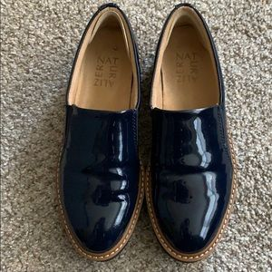 Naturalizer Military Blue Patent Loafer